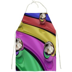 Balloons Colorful Rainbow Metal Full Print Aprons by Simbadda