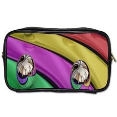 Balloons Colorful Rainbow Metal Toiletries Bags by Simbadda
