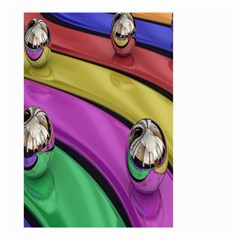 Balloons Colorful Rainbow Metal Small Garden Flag (two Sides) by Simbadda