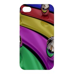 Balloons Colorful Rainbow Metal Apple Iphone 4/4s Premium Hardshell Case by Simbadda