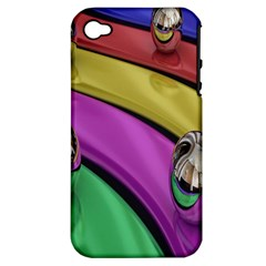 Balloons Colorful Rainbow Metal Apple Iphone 4/4s Hardshell Case (pc+silicone) by Simbadda