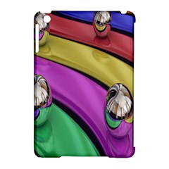 Balloons Colorful Rainbow Metal Apple Ipad Mini Hardshell Case (compatible With Smart Cover) by Simbadda