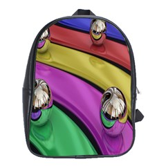 Balloons Colorful Rainbow Metal School Bags (xl)  by Simbadda