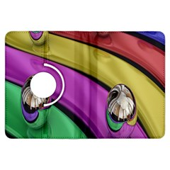 Balloons Colorful Rainbow Metal Kindle Fire Hdx Flip 360 Case by Simbadda