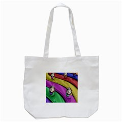 Balloons Colorful Rainbow Metal Tote Bag (white) by Simbadda