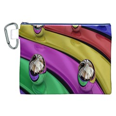 Balloons Colorful Rainbow Metal Canvas Cosmetic Bag (xxl) by Simbadda