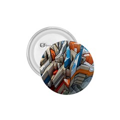 Abstraction Imagination City District Building Graffiti 1.75  Buttons