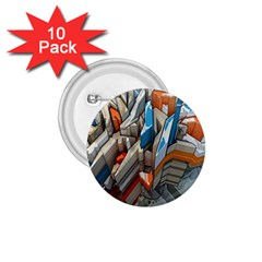 Abstraction Imagination City District Building Graffiti 1 75  Buttons (10 Pack) by Simbadda