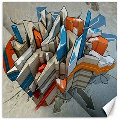 Abstraction Imagination City District Building Graffiti Canvas 12  X 12   by Simbadda