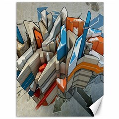 Abstraction Imagination City District Building Graffiti Canvas 36  X 48   by Simbadda