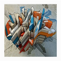 Abstraction Imagination City District Building Graffiti Medium Glasses Cloth (2 Side) by Simbadda