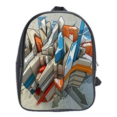 Abstraction Imagination City District Building Graffiti School Bags(large)  by Simbadda