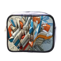 Abstraction Imagination City District Building Graffiti Mini Toiletries Bags by Simbadda