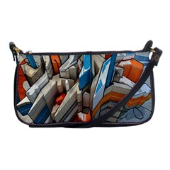 Abstraction Imagination City District Building Graffiti Shoulder Clutch Bags by Simbadda