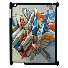 Abstraction Imagination City District Building Graffiti Apple Ipad 2 Case (black) by Simbadda