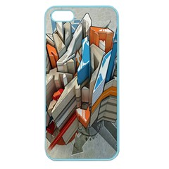 Abstraction Imagination City District Building Graffiti Apple Seamless Iphone 5 Case (color) by Simbadda