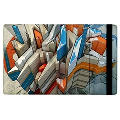 Abstraction Imagination City District Building Graffiti Apple Ipad 3/4 Flip Case by Simbadda