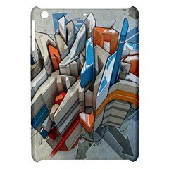 Abstraction Imagination City District Building Graffiti Apple Ipad Mini Hardshell Case by Simbadda