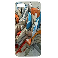 Abstraction Imagination City District Building Graffiti Apple Iphone 5 Hardshell Case With Stand by Simbadda