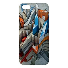 Abstraction Imagination City District Building Graffiti Apple Iphone 5 Premium Hardshell Case by Simbadda