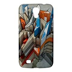 Abstraction Imagination City District Building Graffiti Samsung Galaxy Mega 6 3  I9200 Hardshell Case by Simbadda