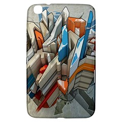 Abstraction Imagination City District Building Graffiti Samsung Galaxy Tab 3 (8 ) T3100 Hardshell Case  by Simbadda