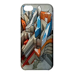 Abstraction Imagination City District Building Graffiti Apple Iphone 5c Hardshell Case by Simbadda