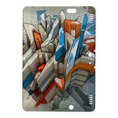 Abstraction Imagination City District Building Graffiti Kindle Fire Hdx 8 9  Hardshell Case by Simbadda