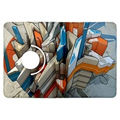Abstraction Imagination City District Building Graffiti Kindle Fire Hdx Flip 360 Case by Simbadda