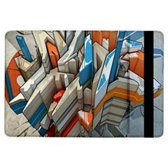 Abstraction Imagination City District Building Graffiti Ipad Air Flip by Simbadda
