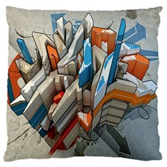 Abstraction Imagination City District Building Graffiti Standard Flano Cushion Case (one Side) by Simbadda