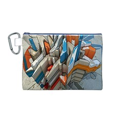 Abstraction Imagination City District Building Graffiti Canvas Cosmetic Bag (m) by Simbadda