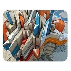 Abstraction Imagination City District Building Graffiti Double Sided Flano Blanket (large)  by Simbadda