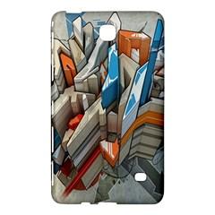Abstraction Imagination City District Building Graffiti Samsung Galaxy Tab 4 (7 ) Hardshell Case  by Simbadda