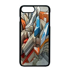 Abstraction Imagination City District Building Graffiti Apple Iphone 7 Plus Seamless Case (black) by Simbadda