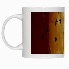 Birds Sky Planet Moon Shadow White Mugs by Simbadda
