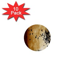Birds Sky Planet Moon Shadow 1  Mini Buttons (10 Pack)  by Simbadda
