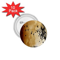 Birds Sky Planet Moon Shadow 1 75  Buttons (10 Pack) by Simbadda