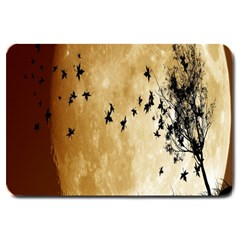Birds Sky Planet Moon Shadow Large Doormat  by Simbadda