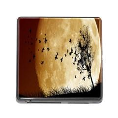 Birds Sky Planet Moon Shadow Memory Card Reader (square) by Simbadda