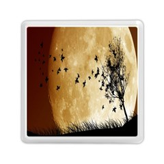Birds Sky Planet Moon Shadow Memory Card Reader (square)  by Simbadda