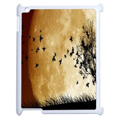 Birds Sky Planet Moon Shadow Apple Ipad 2 Case (white) by Simbadda