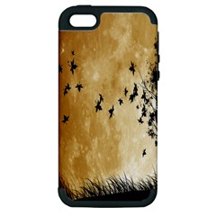 Birds Sky Planet Moon Shadow Apple Iphone 5 Hardshell Case (pc+silicone) by Simbadda