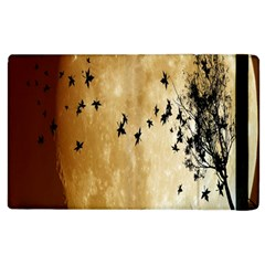 Birds Sky Planet Moon Shadow Apple Ipad 2 Flip Case by Simbadda