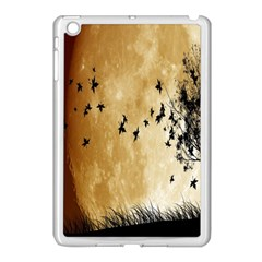 Birds Sky Planet Moon Shadow Apple Ipad Mini Case (white) by Simbadda
