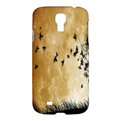 Birds Sky Planet Moon Shadow Samsung Galaxy S4 I9500/i9505 Hardshell Case by Simbadda