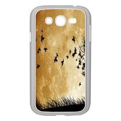 Birds Sky Planet Moon Shadow Samsung Galaxy Grand Duos I9082 Case (white) by Simbadda