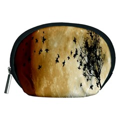 Birds Sky Planet Moon Shadow Accessory Pouches (medium)  by Simbadda