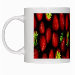 Berry Strawberry Many White Mugs by Simbadda