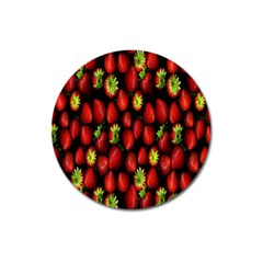 Berry Strawberry Many Magnet 3  (round) by Simbadda